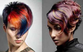 Колорирование на русые волосы: короткие стрижки и средней длины, какие оттенки выбрать?