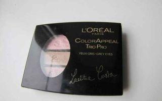 Тени Лореаль для век: отзывы на палетку для бровей с маслами моно, состав продукта