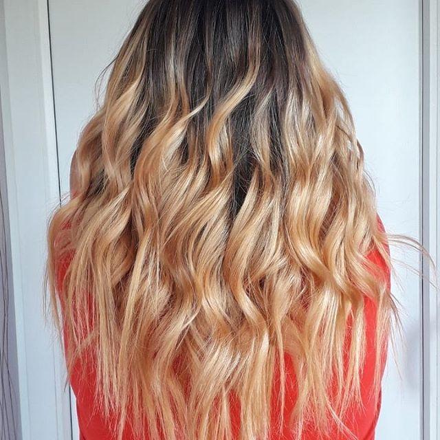 Растяжка цвета на русые волосы средней длины: 10 техник на прямое омбре