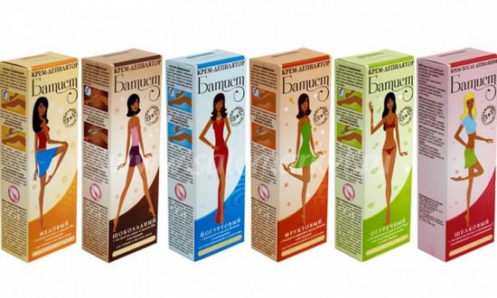 Батист - крем для депиляции: отзывы об огуречном депиляторе, йогуртовый для жестких волос, депиляционный шоколадный, мороженое с ледниковой