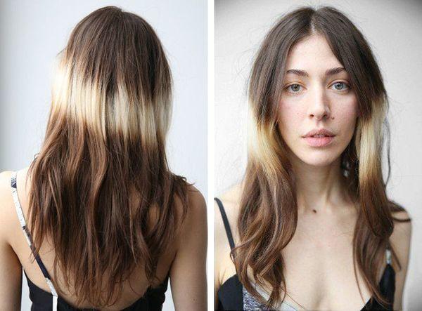 Омбре на светлых волосах: 7 видов - фиолетовые кончики на русых