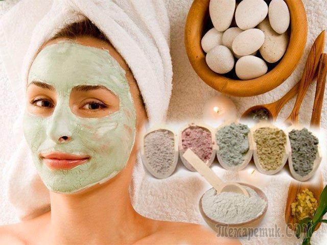 6 популярных масок из глины для кожи лица; рецепты приготовления в домашних условиях; виды глины: черная, белая, розовая, голубая, желтая, зеленая, красная; как наносить маску; польза и вред от применения применения