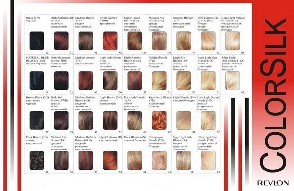 Ревлон - краска для волос: палитра Ревлониссимо, отзывы о revlon, revlonissimo professional Колор Крем, Сolorsilk для седых