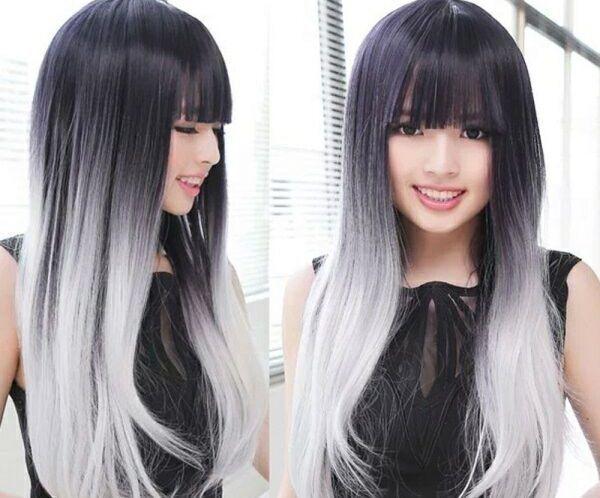 Омбре с челкой: 14 окрашиваний на средние и длинные волосы, покраска на темные короткие