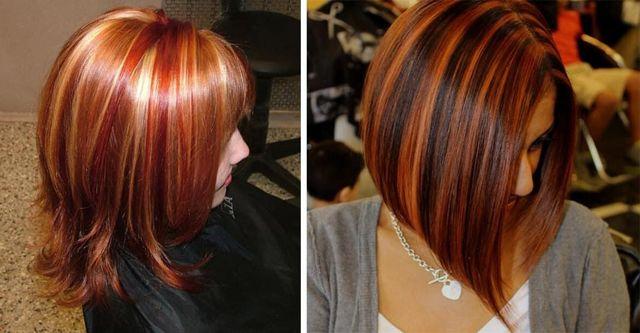 Колорирование на рыжие волосы: оттенки, цвета и тона