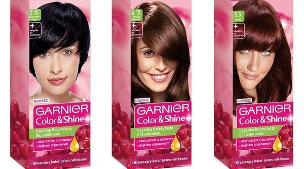 Краска для волос Гарньер: палитра цветов Колор Нейчералс (garnier color naturals), оттенки Сенсейшен (sensation), Шайн без аммиака