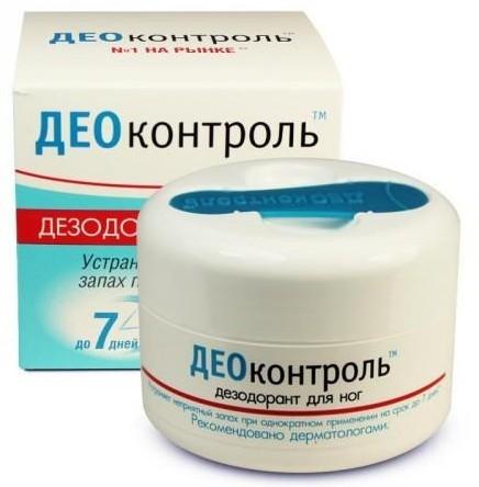 Део-контроль: крем-дезодорант для ног, состав мази, отзывы, инструкция по применению