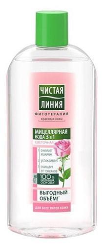 Мицеллярная вода Чистая Линия 3 в 1 Идеальная Кожа: отзывы о составе Цветочной