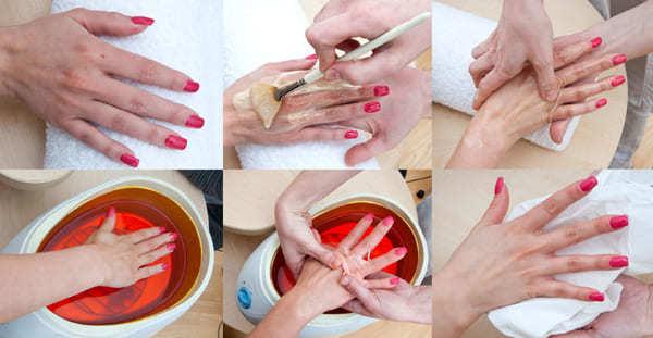 Парафиновые ванночки для рук в домашних условиях: польза и вред ванн с воском