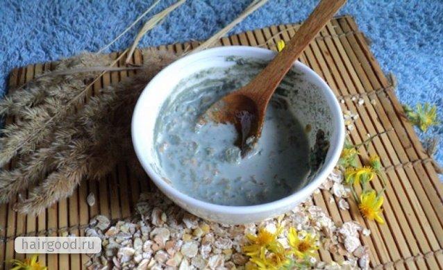 Голубая глина для волос: применение маски от выпадения