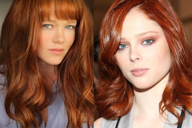 Медный цвет волос: кому подходит оттенок, золотисто-русая краска для волос под зеленые глаза, светлая медь для голубых, Гарньер