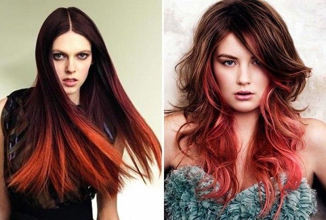 Виды омбре: все варианты окрашивания волос на темные, светлые, рыжие волосы (10 оттенков), 6 популярных техник