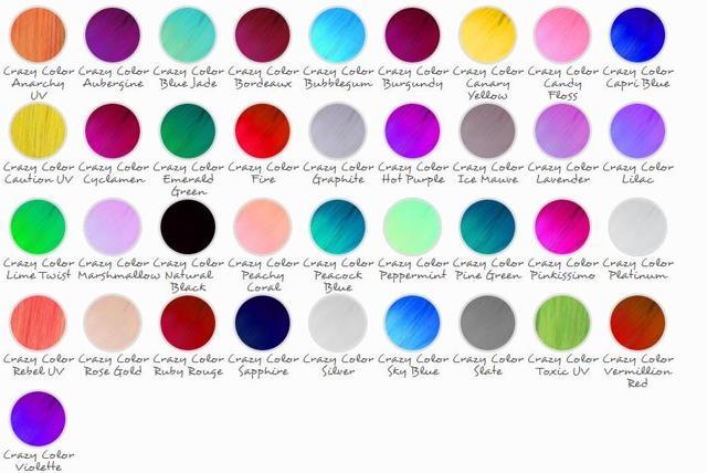 crazy color: палитра цветов Крейзи Колор, отзывы о цветной краске для волос