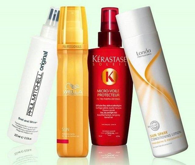 5 солнцезащитных спреев для волос и 5 защитных от фена и утюжка, от выгорания на солнце
