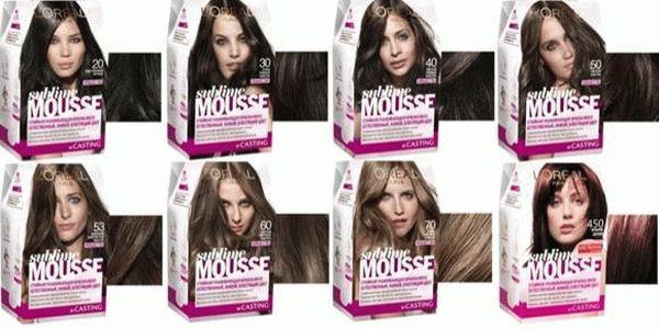Краска-мусс Лореаль: отзывы о Сублим, палитра цветов loreal sublime mousse, пенка для волос