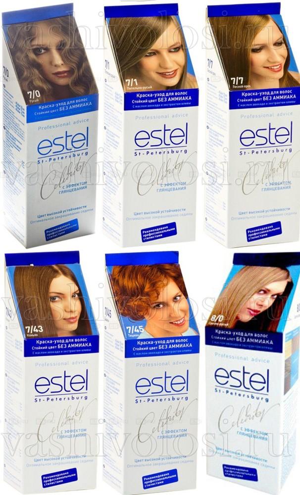 Краска для волос Эстель (estel): палитра безаммиачной Селебрити (celebrity), окрашивание без аммиака Делюкс, инструкция по применению