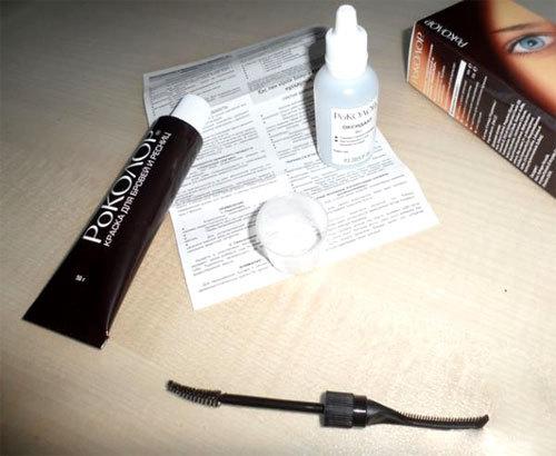 Роколор краска для бровей и ресниц: инструкция по применению, отзывы