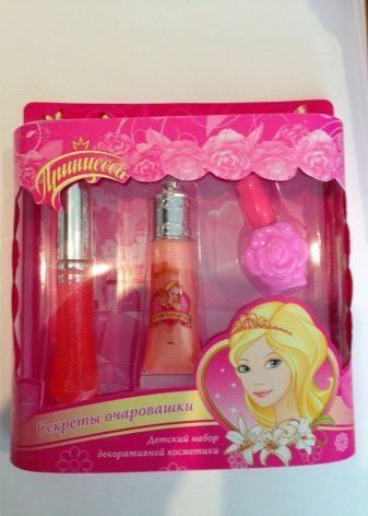 Детская косметика для девочек в чемоданчике, для 5, 6, 7, 8, 9, 10, 11 и 12 лет в декоративном подарочном наборе принцесс